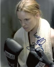 """MILLION DOLLAR BABY"""" - HILLARY SWANK as MAGGIE FITZGERALD Signed 8x10 Color Photo"""