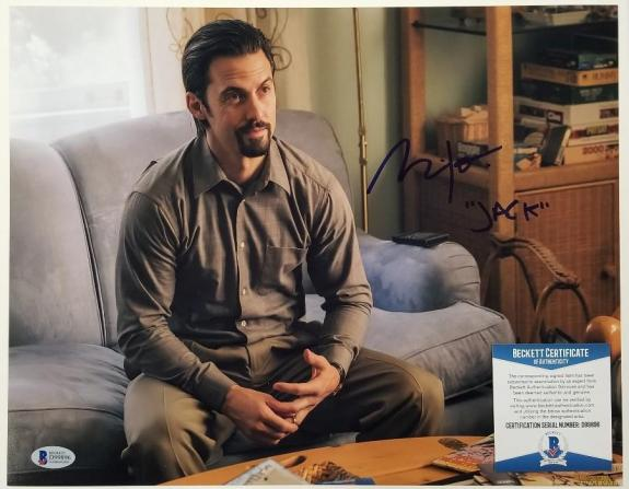 "MILO VENTIMIGLIA Signed 11x14 Photo ""Jack"" This is Us Actor ~ Beckett BAS COA"