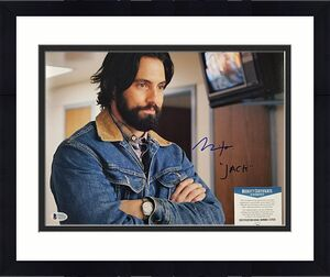 "MILO VENTIMIGLIA Signed ""Jack"" 11x14 Photo #1 THIS IS US Actor ~ BAS Beckett COA"