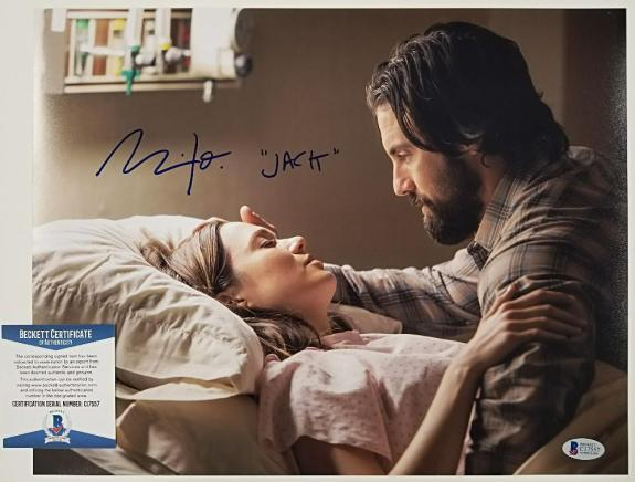 "MILO VENTIMIGLIA Signed ""Jack"" 11x14 Photo #3 THIS IS US Actor ~ BAS Beckett COA"