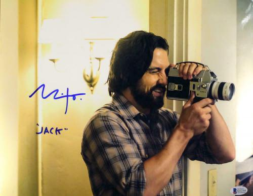 Milo Ventmiglia Autographed This is Us 11x14 Photo Jack Pearson BAS 12732