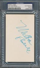 Milton Berle Index Card PSA/DNA Certified Authentic Auto Autograph Signed *7389