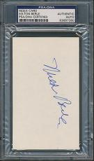 Milton Berle Index Card PSA/DNA Certified Authentic Auto Autograph Signed *7390
