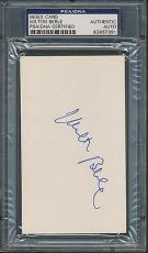 Milton Berle Index Card PSA/DNA Certified Authentic Auto Autograph Signed *7391