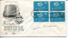 Milton Friedman 1976 Nobel Prize Economics Rare Signed Autograph FDC