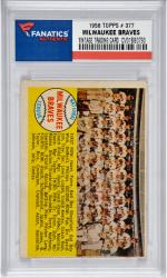 Milwaukee Braves Team 1958 Topps #377 Card 1  with Hank Aaron