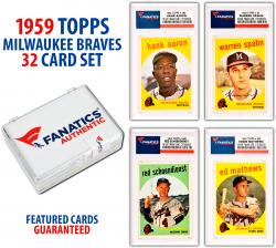 Milwaukee Braves Team Set 1959 Topps Featuring All 32 Cards