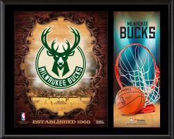 "Milwaukee Bucks Sublimated 12"" x 15"" Team Logo Plaque"