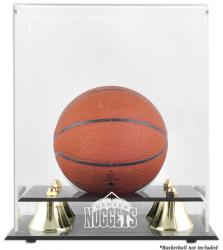 Denver Nuggets Mini Golden Classic Team Logo Basketball Case - Mounted Memories
