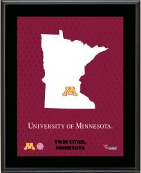 "Minnesota Golden Gophers Sublimated 10.5"" x 13"" State Plaque"