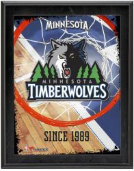 "Minnesota Timberwolves Team Logo Sublimated 10.5"" x 13"" Plaque"