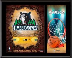 "Minnesota Timberwolves Sublimated 12"" x 15"" Team Logo Plaque"