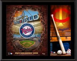 "Minnesota Twins Sublimated 12"" x 15"" Team Logo Plaque"