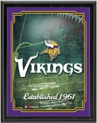 "Minnesota Vikings Team Logo Sublimated 10.5"" x 13"" Plaque"