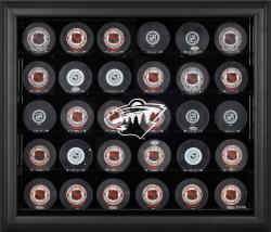 Minnesota Wild 30-Puck Black Display Case