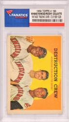 Minnie Minoso / Rocky Colavito / Larry Doby Cleveland Indians 1959 Topps #166 Card