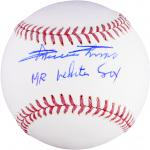 Minnie Minoso Chicago White Sox Autographed MLB Baseball with Mr. White Sox Inscription - Mounted Memories