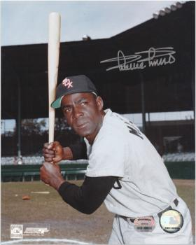 Minnie Minoso Chicago White Sox Autographed 8'' x 10'' Bat Pose Photograph - Mounted Memories