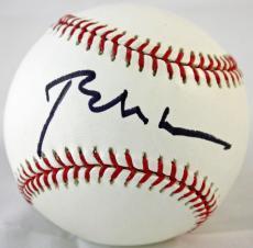 Mint Bill Clinton Signed OML Selig Baseball (10 Sig/Ball 9) JSA full letter