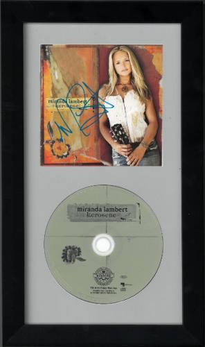 Miranda Lambert signed Kerosene Debut Album CD Cover with CD 6.5x12 Custom Framing- JSA Hologram #GG36315