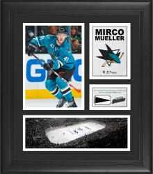 """Mirco Mueller San Jose Sharks Framed 15"""" x 17"""" Collage with Piece of Game-Used Puck"""