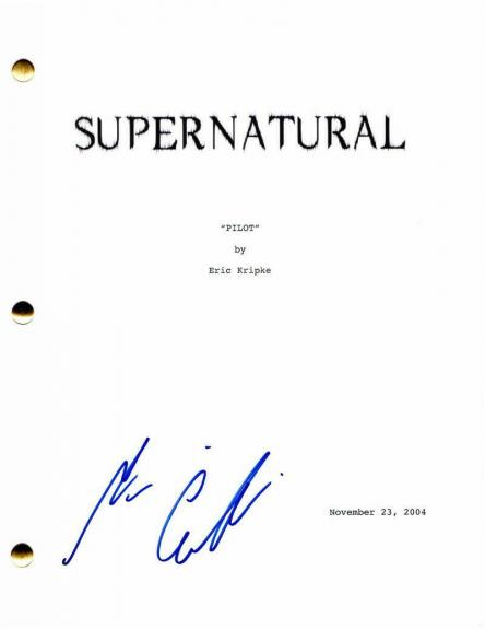 Misha Collins Signed Autograph - Supernatural Full Pilot Script - Castiel