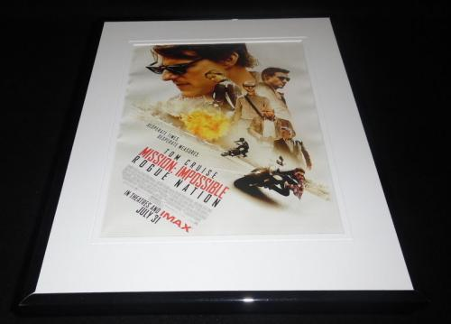 Mission Impossible Rogue Nation 2015 Framed 11x14 Advertisement Tom Cruise