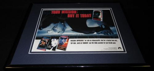 Mission Impossible / Top Gun 1996 Framed 11x14 ORIGINAL Advertisement Tom Cruise