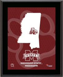 "Mississippi State Bulldogs Sublimated 10.5"" x 13"" State Plaque"