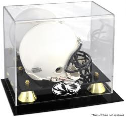 Missouri Tigers Logo Golden Classic Logo Mini Helmet Display Case