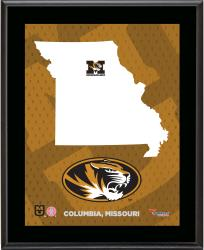"Missouri Tigers Sublimated 10.5"" x 13"" State Plaque"