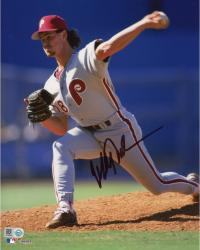 "Mitch Williams Philadelphia Phillies Autographed 8"" x 10"" Pitching Photograph"