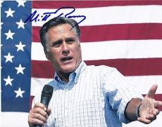 Mitt Romney Signed 8x10 Photo Authentic Autograph Usa Presidential Coa
