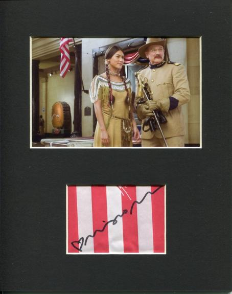 Mizuo Peck Night at the Museum Sacajawea Signed Autograph Photo Display