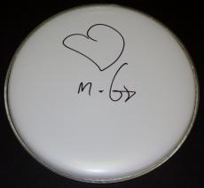 Moby DJ Singer/Songwriter Autographed Drum Head with Heart Drawing