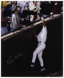 "Moises Alou Chicago Cubs NLCS Game 6 Autographed 16"" x 20"" Bartman Foul Ball Photograph"