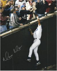 Moises Alou Chicago Cubs Autographed NLCS Game 6 8'' x 10'' Bartman Foul Fall Photograph - Mounted Memories