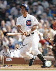 """Moises Alou Chicago Cubs Autographed 8"""" x 10"""" Swinging Photograph"""