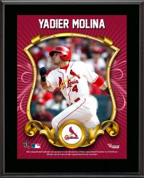 Yadier Molina St. Louis Cardinals Sublimated 10.5'' x 13'' Stylized Plaque - Mounted Memories
