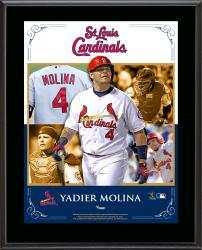 Yadier Molina St. Louis Cardinals Sublimated 10.5'' x 13'' Composite Plaque - Mounted Memories