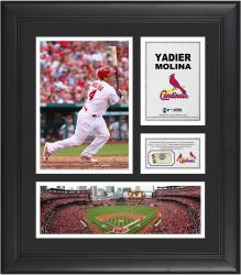 "Yadier Molina St. Louis Cardinals Framed 15"" x 17"" Collage with Game-Used Baseball - Mounted Memories"