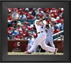 "Yadier Molina St. Louis Cardinals Framed 20"" x 24"" Gamebreaker Photograph with Game-Used Ball"