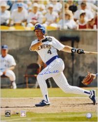 "Paul Molitor Milwaukee Brewers Autographed 16"" x 20"" Photograph - Mounted Memories"