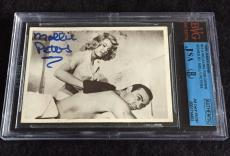 Molly Peters Signed 1965 James Bond Thunderball Card Autograph Jsa/bvs Bgs
