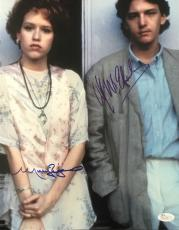 Molly Ringwald & Andrew Mccarthy Signed 'pretty In Pink' 11x14 Photo Auto Jsa