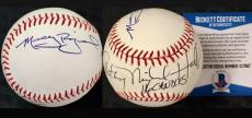 MOLLY RINGWALD ~ ANTHONY MICHAEL HALL Autograph Signed Baseball BAS Beckett COA