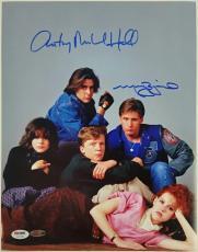 MOLLY RINGWALD + ANTHONY MICHAEL HALL Breakfast Club Signed 11x14#2 Photo PSA