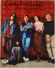 MOLLY RINGWALD + ANTHONY MICHAEL HALL Breakfast Club Signed 8x10#1 Photo PSA/DNA