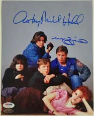 MOLLY RINGWALD + ANTHONY MICHAEL HALL Breakfast Club Signed 8x10#2 Photo PSA/DNA