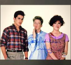 MOLLY RINGWALD + ANTHONY MICHAEL HALL Sixteen Candles Signed 11x14#1 Photo PSA